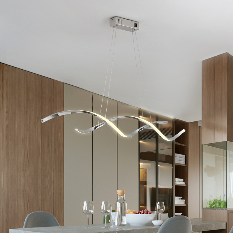 Chrome Gold Plated Hanging NEW Modern Pendant Lights For Dining Room Kitchen Room Home Deco Pendant Lamp Fixture luminaire