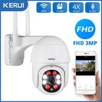 KERUI 1080P 3MP WiFi IP Cámara exterior inalámbrica Seguridad para el hogar al aire libre Zoom digital 4X Cámara domo de velocidad Videovigilancia security protection camara camaras de vigilancia con wifi