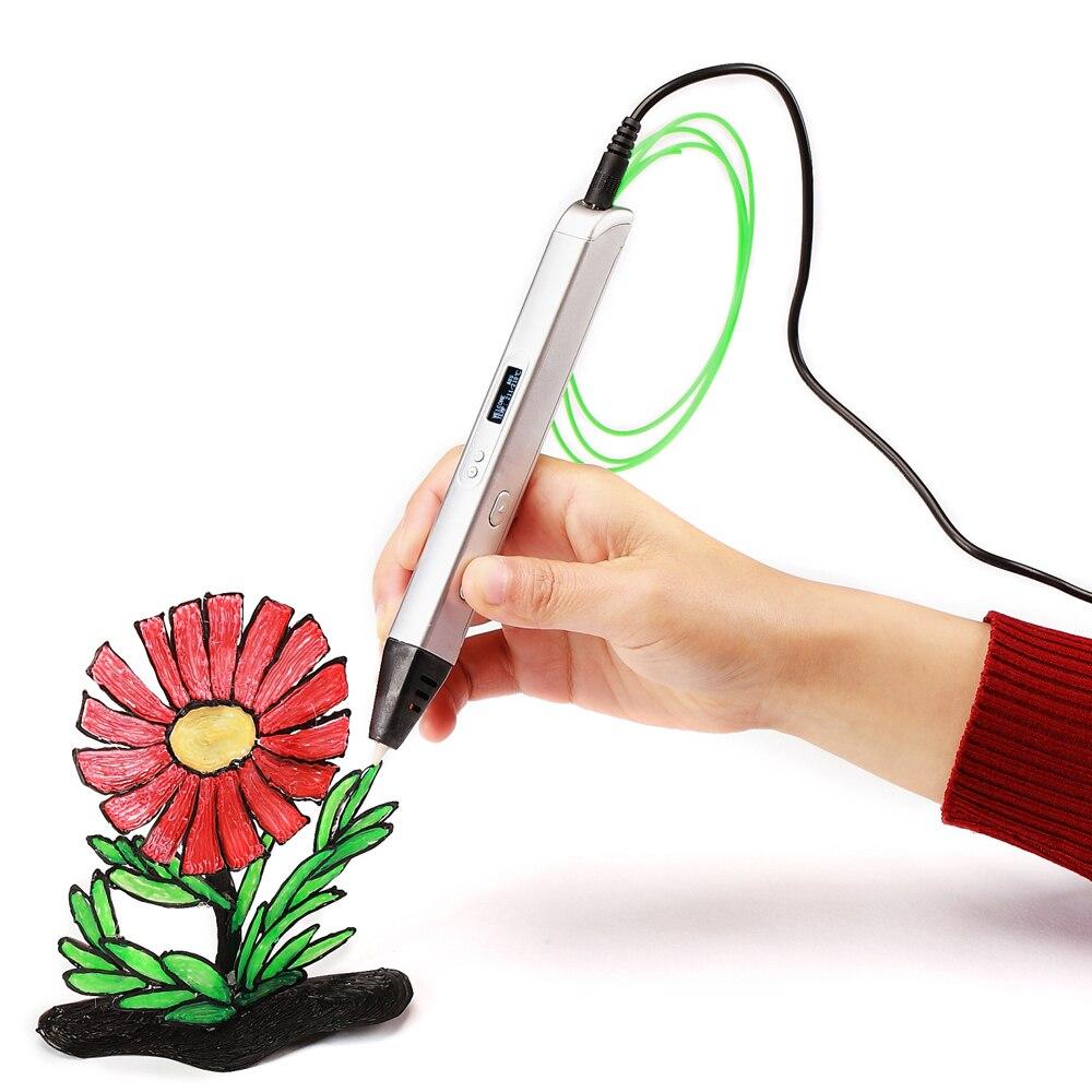UEEVII 3d pen 3 d pen include PLA 3d printer pen the kids Drawing Tool magic pen the best gift Christmas presents|3D Pens| |  - title=
