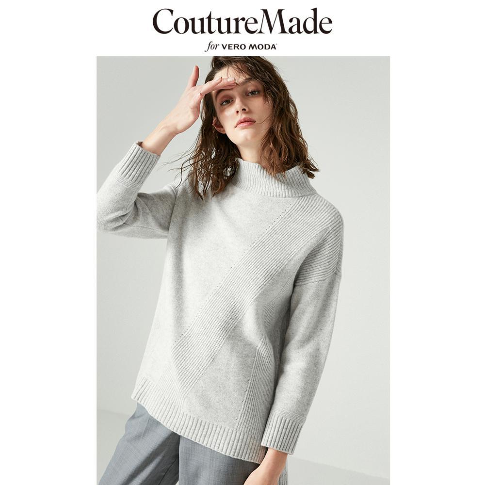 Vero Moda CoutureMade 92% Sheep Wool Round Neck Drop-shoulder Sleeves Knit   318413608