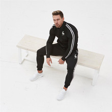 Brand clothing Spring Tracksuit Men Casual Patchwork Sportwear Set Sweatshirt Sweatpants Male Joggers dress Suits free shipping