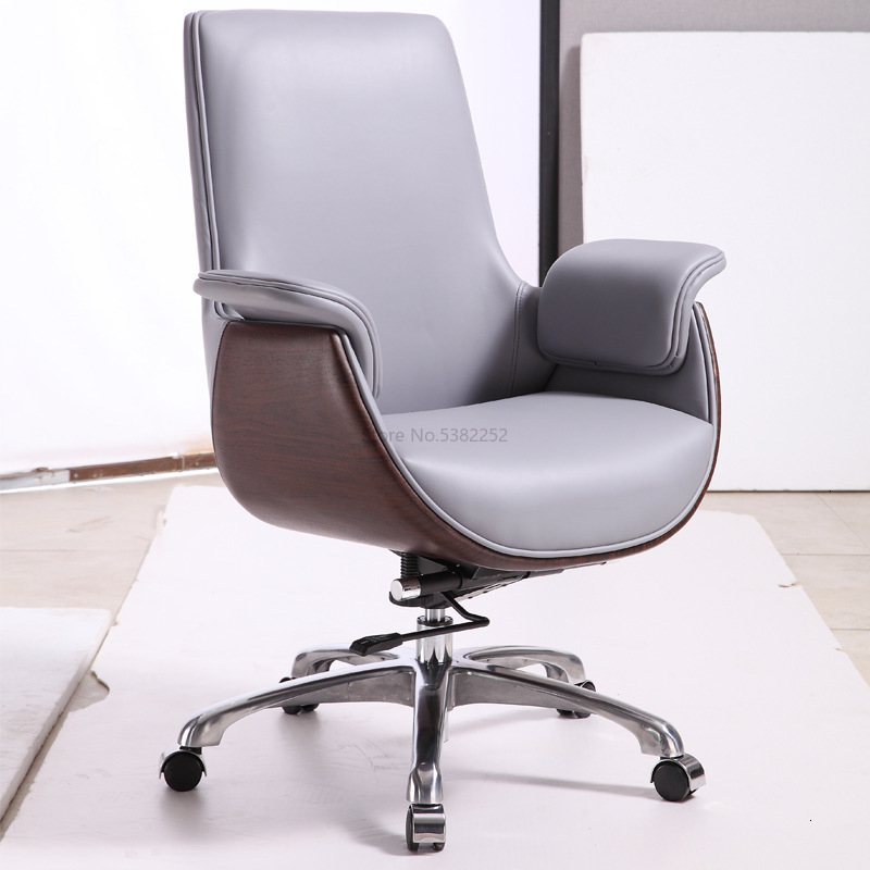 Back Office Chair Meeting Chair Home Computer Chair Leather Large Boss Swivel Chair Office Lift
