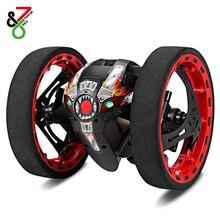 PEG-81 2,4G беспроводной RC прыгающий автомобиль с гибкими колесами вращающийся светодиодный светильник RC робот автомобиль игрушки для подарков