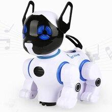 цена на Electronic Smart Robot Dogs Remote Control Machine Dog Universal Walking Singing Dancing Kids Early Educational Toys 2629-T9
