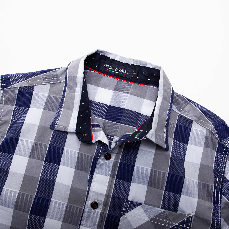 2020 Plaid Shirt Voor Man Lange Mouw Borst Pocket Button Down Shirt Mannen Casual Losse Blouse Mannen Werken Formele Kleding zachte
