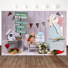 цена на Easter Bunny Toy Photography Backdrops For Newborn Baby Kids Backgrounds for Photo Studio Wooden Floor Child Birthday Backdrop