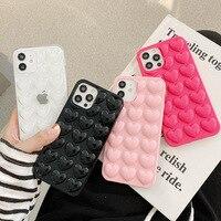 Funda suave de silicona para teléfono móvil Apple, carcasa 3D de caramelo y corazón aplicable a iPhone 12Pro, 11promax/XR, Color puro