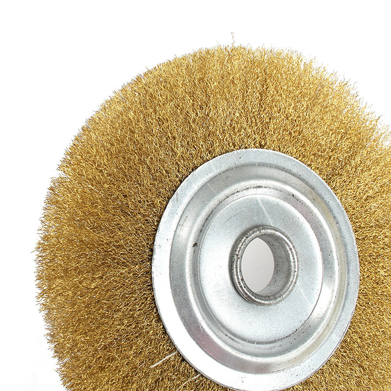 125mm Soft Copper Wire Wheel Flat Brass Brush Fits For Polishing Grinding Metal