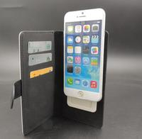 Sublimation Leather Flip case cover for iPhone for Samsung universal case with slot magnet