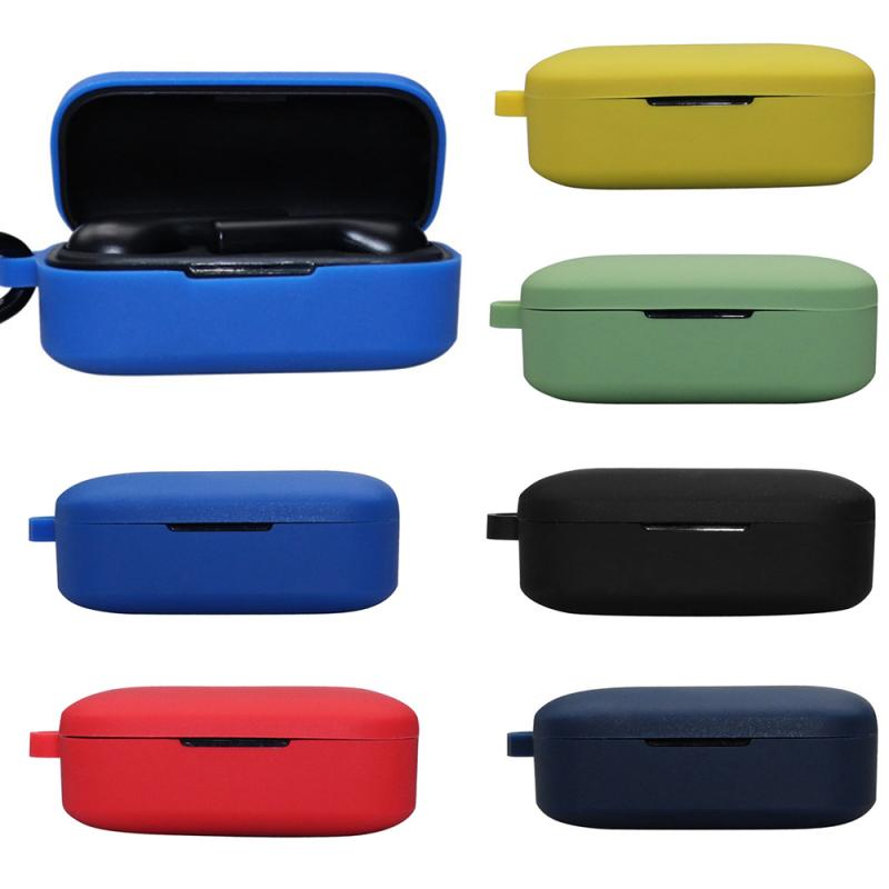 Wireless Bluetooth Earphone Silicone Protection Case Cover For QCY T5 Portable Protective Case With Anti-lost Buckle