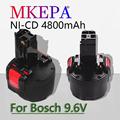 Новый аккумулятор bat048 9,6 в 4800 мАч Ni Cd, электроинструмент Bosch PSR 960 bh984 bat048 bat119, аккумулятор