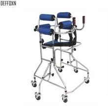 6 колес Zimmer прогулочная рама для людей с ограниченными возможностями, для взрослых, для восстановления ходьба, поддержка, Rollator Walker Aid, алюминиевый сплав