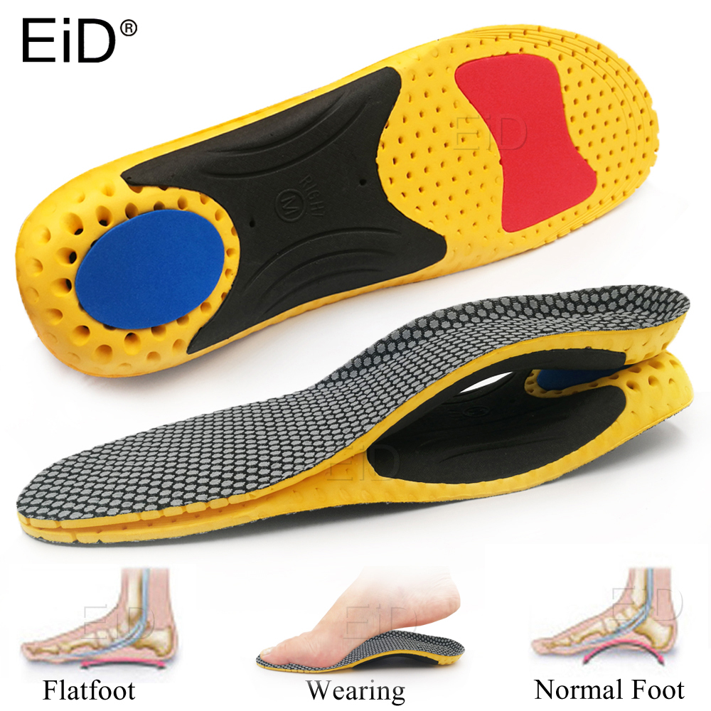EiD Orthopedic EVA Arch Support Insole For Flat Feet Men Women Orthopedic Shoe Pad O/X Leg Correction Foot Pain Relief Sole Pads