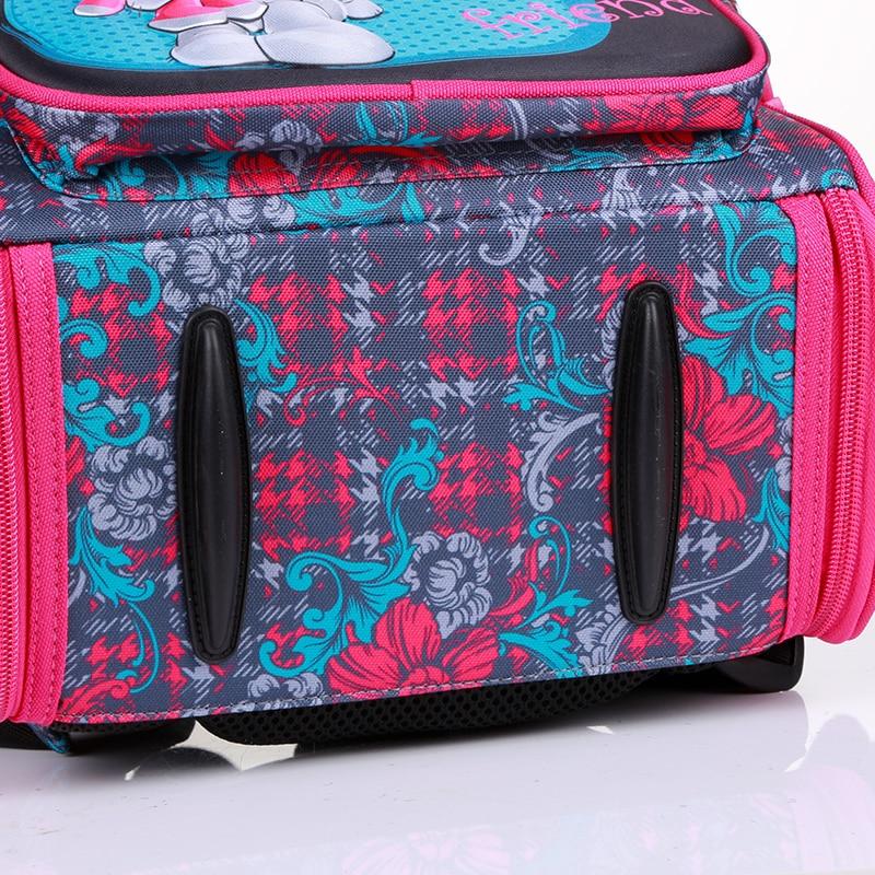 New Fashion Cartoon School Bags Backpack for Girls Boys Bear Cat Design Children Orthopedic Backpack Mochila Infantil Grade 1-5 5