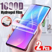 2 pçs filme de hidrogel protetor de tela para xiaomi mi 8 9 se pro lite a1 a2 a3 lite cc9 9 t pro pocofone f1 filme macio não vidro
