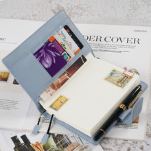 New Arrivals Genuine Leather A6 notebook Diary planner journal Stationery small notepad Agenda Organizer Big Pocket climemo notebook hobo hand book van gogh cover apricot flower painting stationery diary notepad bullet journal agenda a5 a6