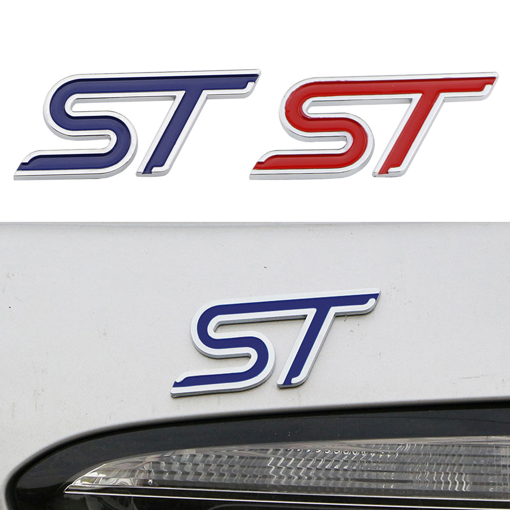 Color Name: Black Fashion Metal Car Sticker Sport Emblem Badge Decal for Ford Focus ST Fiesta Ecosport 2009-2015 Mondeo Auto Styling Accessories