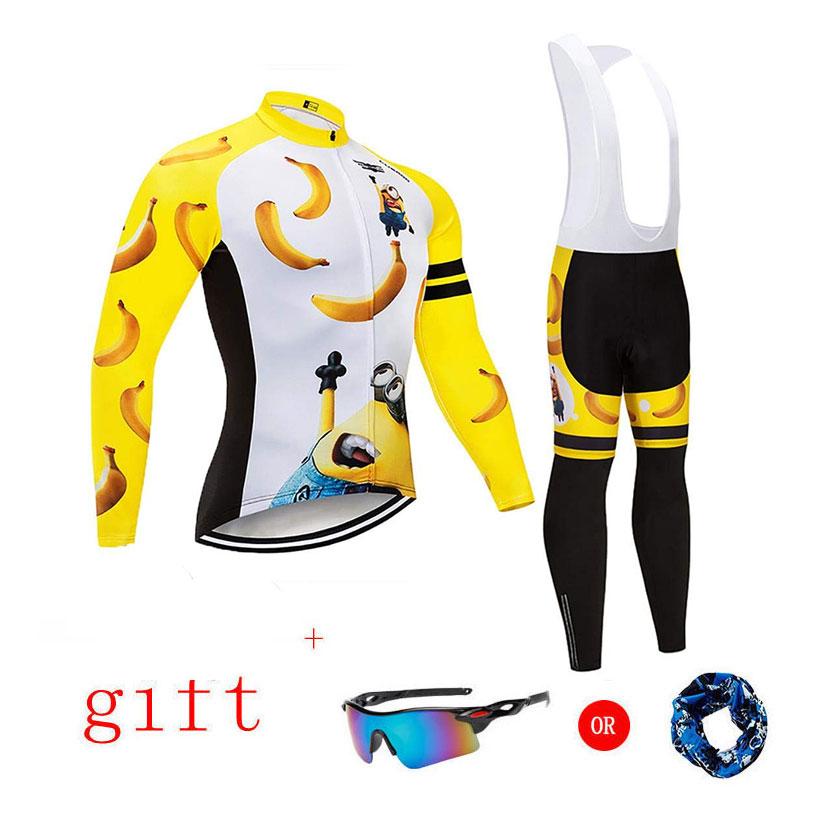 Spor ve Eğlence'ten Bisiklet Takımları'de Moxilyn Pro uzun kollu bisiklet giyim seti en kaliteli sonbahar bisiklet formaları MTB bisiklet bisiklet giyim Ropa Maillot Ciclismo title=
