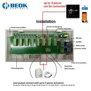 Image 4 - Beok CCT 10 محور تحكم 8 غرفة فرعية صمام كهربائي صندوق LCD يشير إلى 8 قنوات المكثف