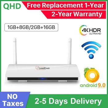 Leadcool Android 9.0 Smart TV Box 4K H.265 Media Player Amlogic S905W Quad Core Support 2.4G Wifi TV Box Leadcool Set top Box android 8 1 tv box r tv box s10 plus rk3328 quad core 4gb 32gb wifi 4k h 265 usb3 0 smart set top tv box