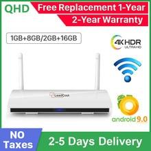 Leadcool reproductor multimedia para TV, Android 9,0, dispositivo de TV inteligente, 4K, H.265, Amlogic S905W, Quad Core, compatible con wi fi 2,4G, Leadcool