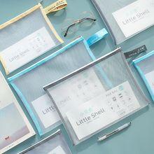 Document-Bag File-Folder Desktop-Organizer Simple-Series A4 Office-Stationery A5-Grid