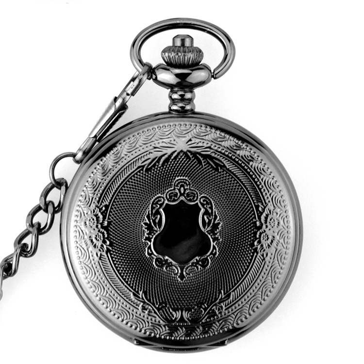 Retro Luxury Skeleton Mechanical Pocket Watch Men Necklace Pocket & Fob Watches Chain Gift Clock