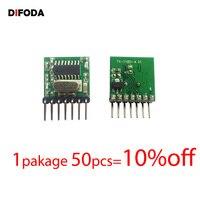 DIFODA 50pcs 433Mhz Superheterodyne RF Radio Transmitter Module 1527 Encoding EV1527 Code Wide voltage 3V 24V For Remote control