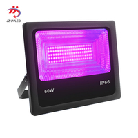 UV LED Floodlight 30W 60W High Power Ultra Violet Detection Flood Light IP66 Waterproof Black Light Party Neon Lighting