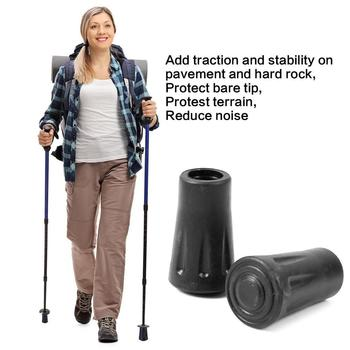 Outdoor Hiking Walking Sticks Tips Protectors Hiking Tips Tools Head Protecter Replacement Walking Stick Adjustable Pole N9S3 image