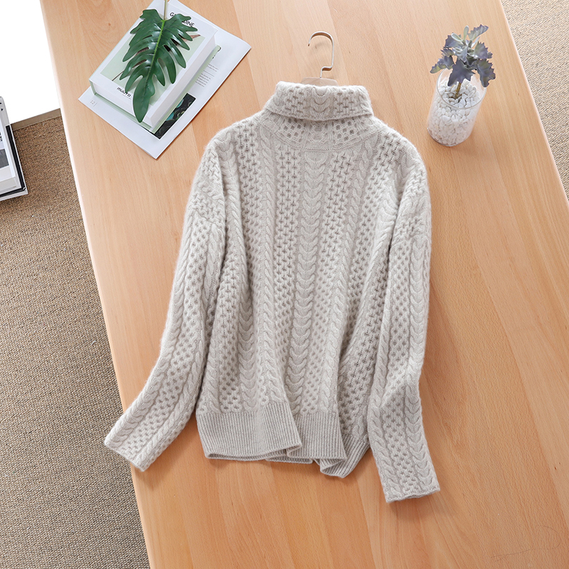 2019 new Autumn Winter sweater women turtleneck Cashmere sweater  women sweater knitting pullover sweaters  Loose Plus Size tops 3