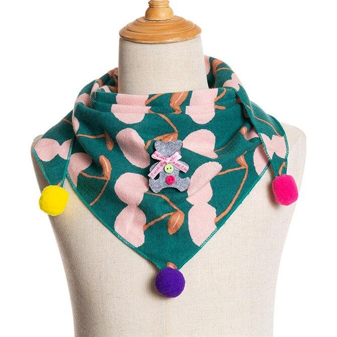 Весенние клетчатые треугольные шарфы в горошек для маленьких девочек; осенне-зимняя шаль для мальчиков и девочек; Детские хлопковые воротники; теплый детский шейный платок - Цвет: A7