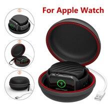 Seyahat taşınabilir şarj şarj tutucu Dock saklama kutusu Apple Watch serisi için 5/4/3/2/1 toz geçirmez fermuarlı Airpods durumda 1 2