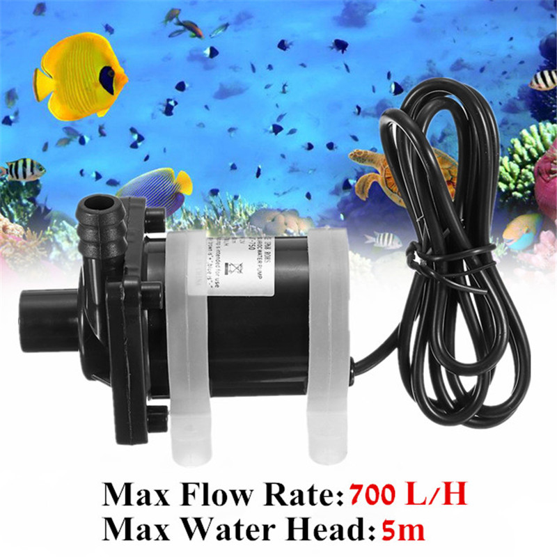 DC 12V Solar Powered Water Pump Motor 700L/H Brushless Magnetic Submersible Pumps Electric Submersible Water Power Pumps