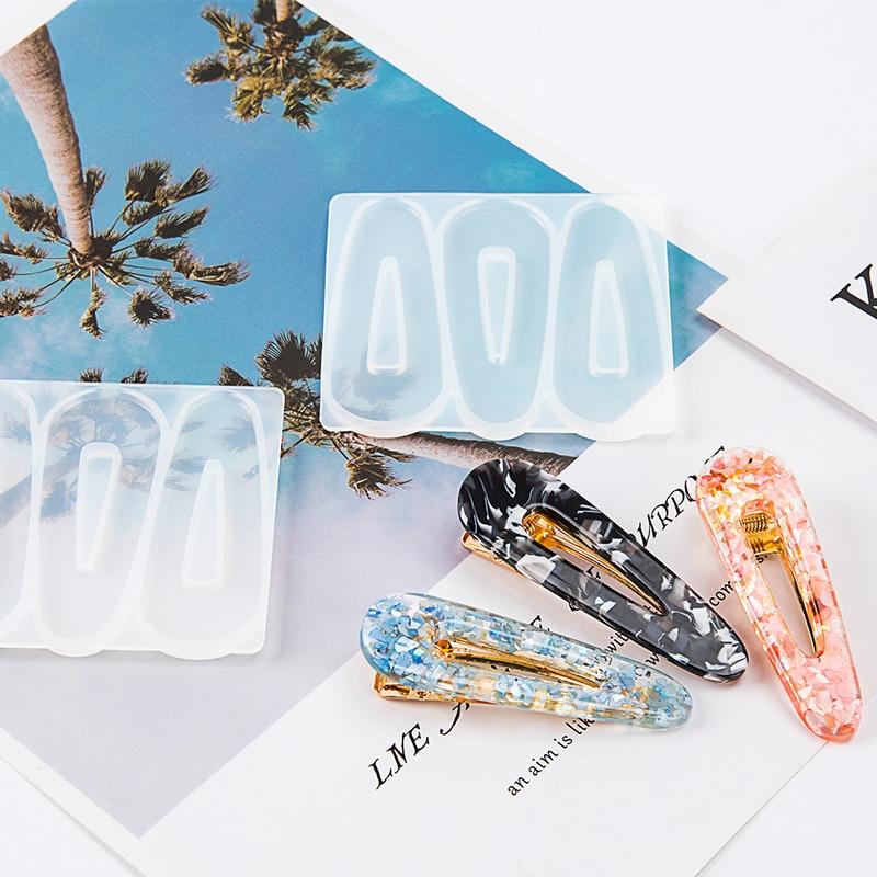 cici store Creative DIY Crafts Art Epoxy Jewelry Pendant Silicone Molds-Hair Clip Barrette Mold,1