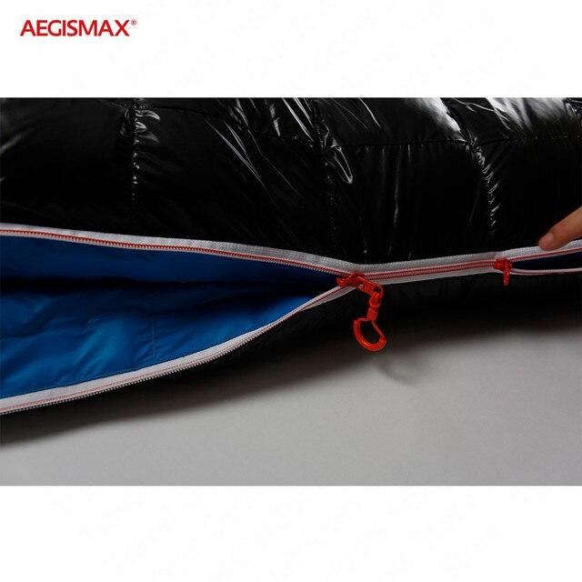 AEGISMAX G Outdoor Camping -22℉~-10℉ Sleeping Bag Winter 95% Goose Down FP800 Warm 15D Nylon Waterproof Sleeping Bag Comfort 5