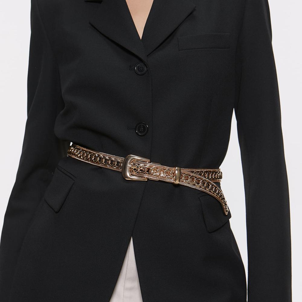 Vintage Metal Golen Chains Belly Belts Bohemia Maxi Buckle Statement Waist Jewelry Belt For Elegant Women Party Accessories