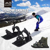 Ski Skates for Skiing Snowshoes, Adjustable Bindings Separated the Short Skiboard Snowblades Snow Skates for Women Men Adults