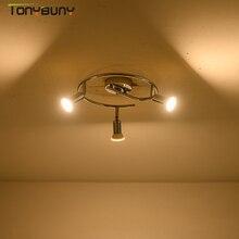 Iluminación led de araña moderna para sala de estar, dormitorio, comedor, interior, hogar, candelabros con caída en escalera, lámpara giratoria de 3 cabezales