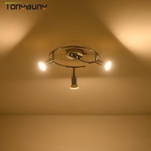 Image 1 - מודרני led נברשת תאורה לסלון חדר שינה אוכל חדר מקורה בית ברק מדרגות נברשת מנורת 3 ראשי rotatable