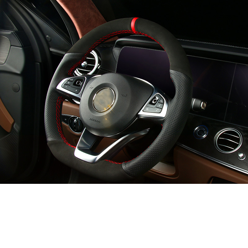 Lsrtw2017 housse de volant de voiture en cuir véritable pour accessoires d'intérieur Mercedes Benz