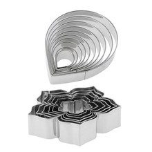 16Pcs Stainless Steel Fondant Cake Mold Rose Flower Petal /Petunia Flower Cookie Cutter Biscuit Chocolate(China)