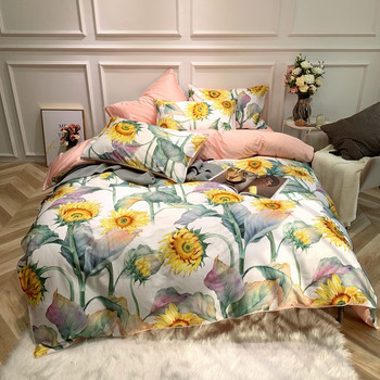 Egyptian Cotton Bedding Set Sunflower Garden