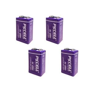 Image 1 - 4pcs ER9V 6F22/6LR61 온도계 PP3 1200mah 10.8V 리튬 티오닐 클로라이드 (Li SOCl2) 배터리 ER 9V 배터리