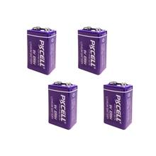 4pcs ER9V 6F22/6LR61 termometro PP3 1200mah 10.8V di Litio cloruro di tionile (Li SOCl2) batteria ER 9V Batterie per il fumo di allarme