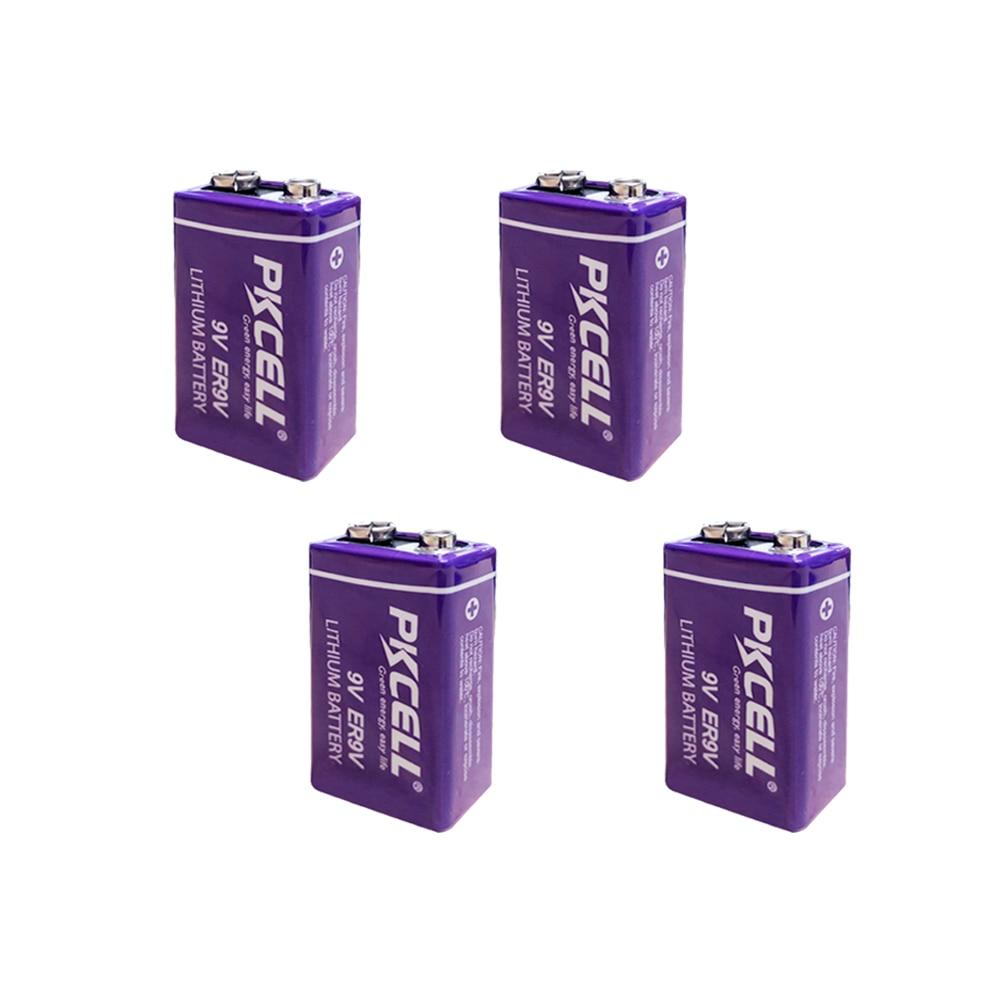 4pcs ER9V 6F22/6LR61 thermometer PP3 1200mah 10.8V Lithium  thionyl chloride(Li SOCl2) battery ER 9V Batteries for smoke alarm9v  batterybattery 6f22battery 9v