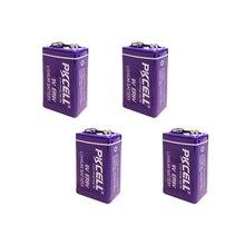 4pcs ER9V 6F22/6LR61 thermometer PP3 1200mah 10.8V Lithium thionyl chloride(Li SOCl2) battery ER 9V Batteries for smoke alarm
