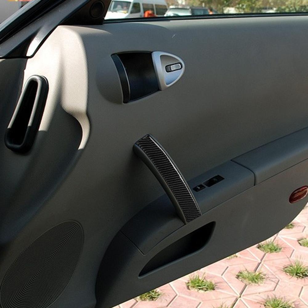 Car Carbon Fiber Passenger Side Door Co-pilot Position Handle Panel Refit Decorative Sticker For Nissan 350Z Z33 2006-2009