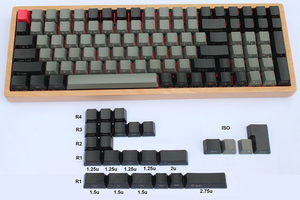 Image 5 - 125 key PBT Keycaps OEM Profile Dolch Carbon for Cherry MX Switches 61 63 84 87 96 104 Tada68 FC980M Mechanical Keyboard