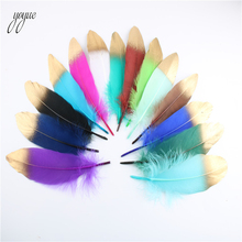 Wholesale 20pcs/lot Gold Goose Feathers DIY Crafts Jewelry Accessories wedding Decoration Newest to the market Duck Plumes